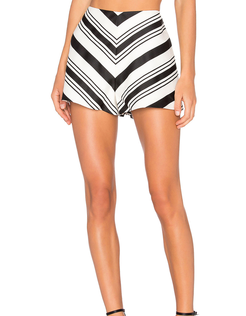 Alexis Carrie Shorts in Black/White - SWANK - Shorts - 4