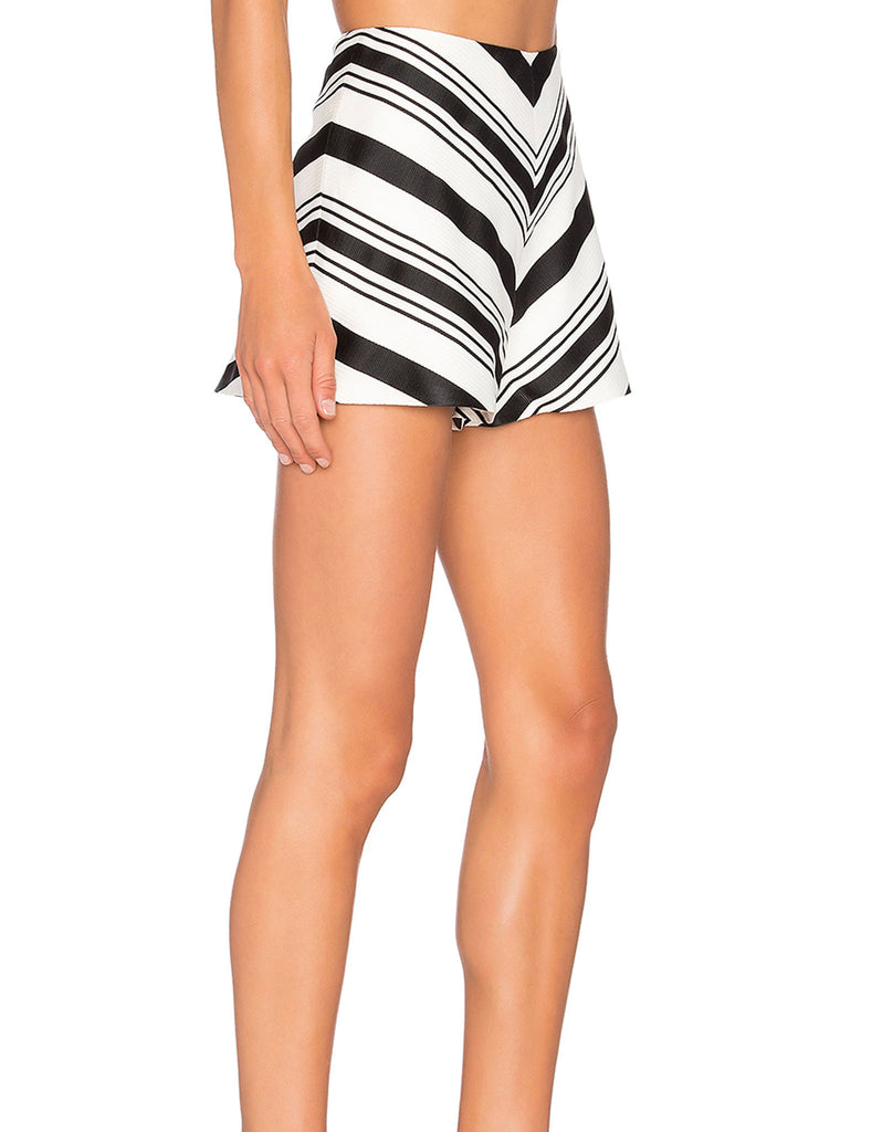 Alexis Carrie Shorts in Black/White - SWANK - Shorts - 1