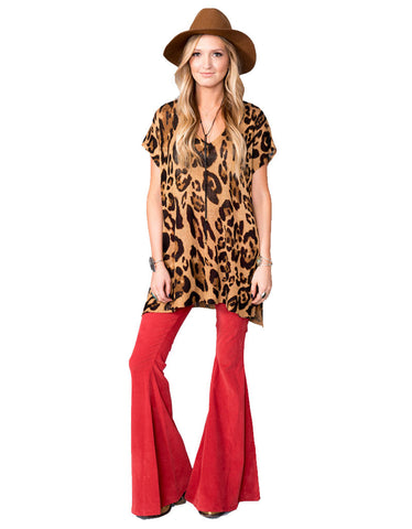 Show Me Your Mumu Carter Tunic in Leopard Knitten