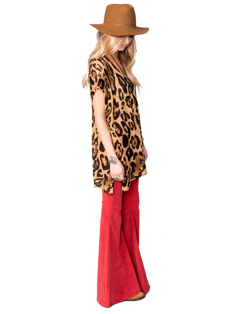 Show Me Your Mumu Carter Tunic in Leopard Knitten - SWANK - Tops - 2