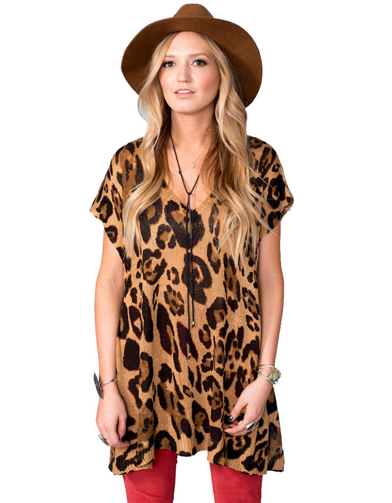 Show Me Your Mumu Carter Tunic in Leopard Knitten - SWANK - Tops - 4