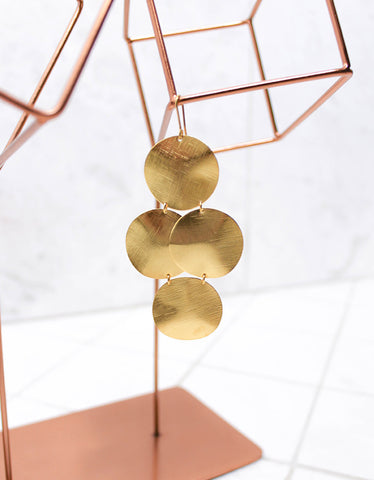 Gold Luxury Big Disc Earrings