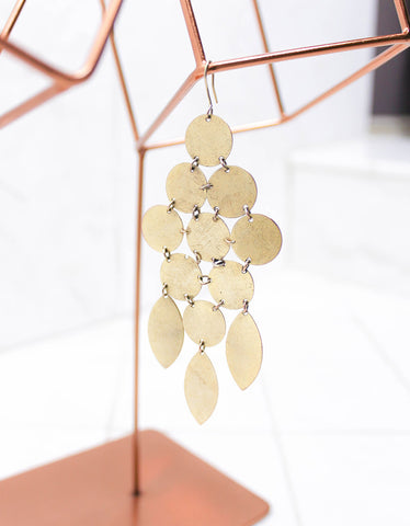 Gold Luxury Chandelier Earrings