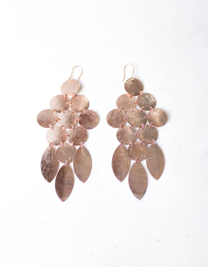 Rose Gold Luxury Chandelier Earrings - SWANK - Jewelry - 3