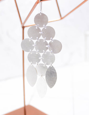 Silver Luxury Chandelier Earrings