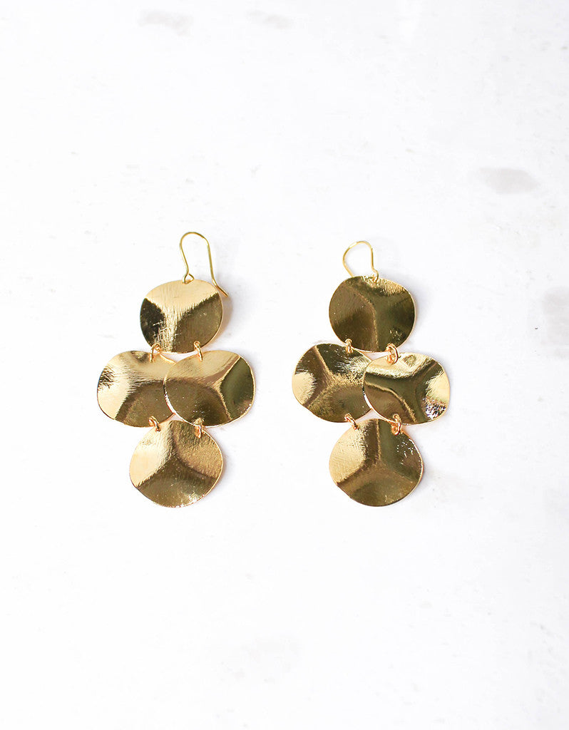 Gold Luxury Small Disc Earrings - SWANK - Jewelry - 3
