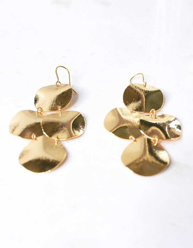 Gold Luxury Small Disc Earrings - SWANK - Jewelry - 4