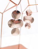 Rose Gold Luxury Small Disc Earrings - SWANK - Jewelry - 1