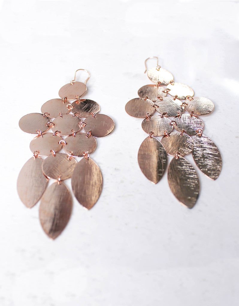 Rose Gold Luxury Chandelier Earrings - SWANK - Jewelry - 4