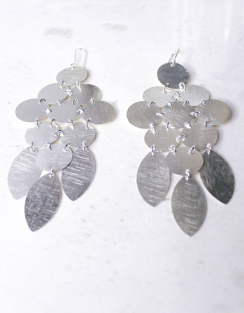Silver Luxury Chandelier Earrings - SWANK - Jewelry - 5