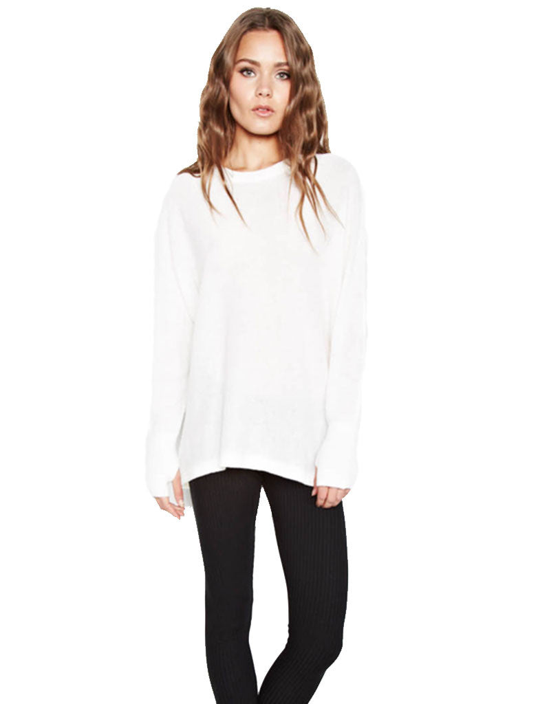 Michael Lauren Clay Cashmere Pullover in Creme - SWANK - Tops - 1