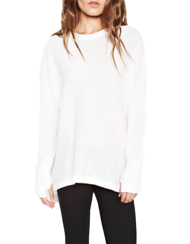 Michael Lauren Clay Cashmere Pullover in Creme - SWANK - Tops - 2