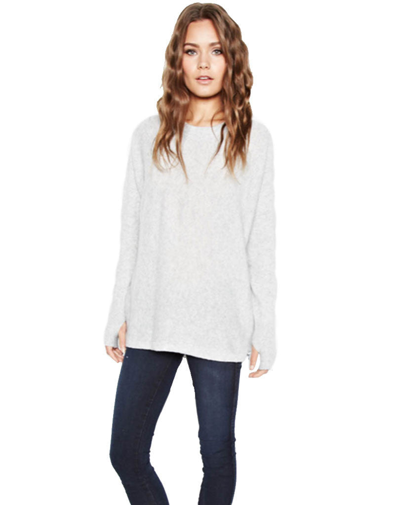 Michael Lauren Clay Cashmere Pullover in Heather Grey - SWANK - Tops - 1