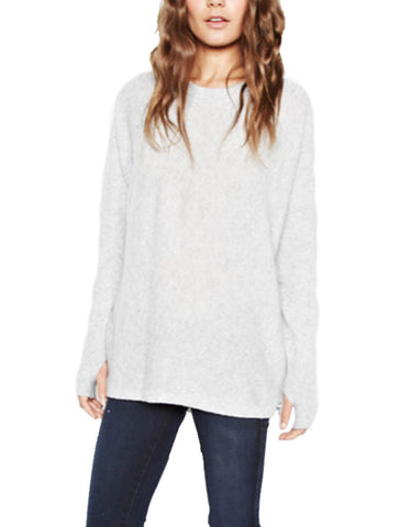 Michael Lauren Clay Cashmere Pullover in Heather Grey