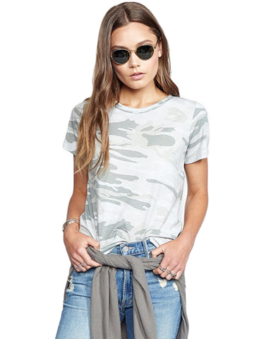 Michael Lauren Cliff Classic Tee in Green Camo