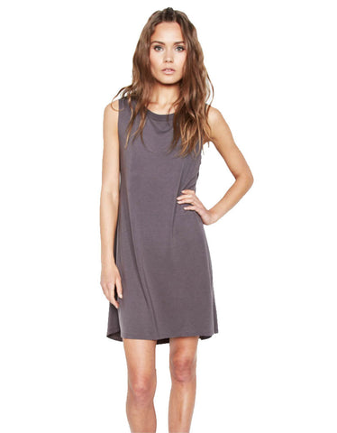 Michael Lauren Cyd Mini Dress in Coal