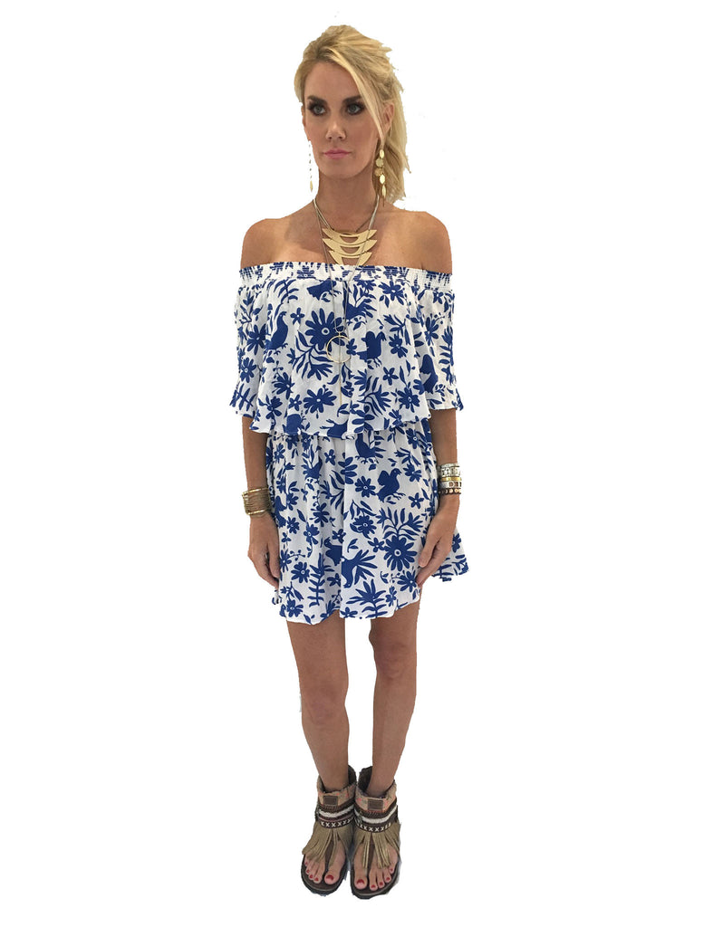 Show Me Your Mumu Casita Mini Dress in Senorita Bluebird Cloud - SWANK - Dresses - 3