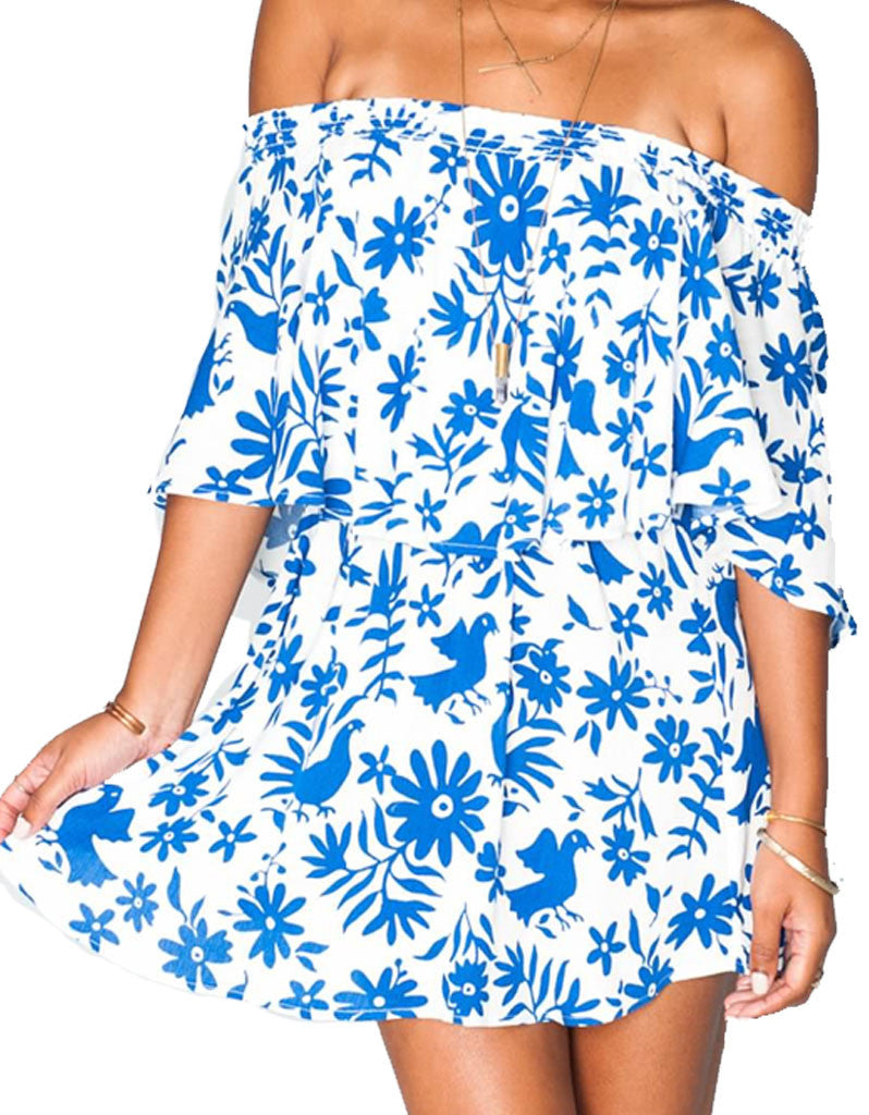 Show Me Your Mumu Casita Mini Dress in Senorita Bluebird Cloud - SWANK - Dresses - 2