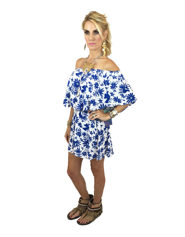 Show Me Your Mumu Casita Mini Dress in Senorita Bluebird Cloud