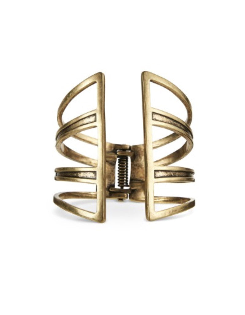 Jenny Bird Chamber Cuff in Gold and Silver - SWANK - Jewelry