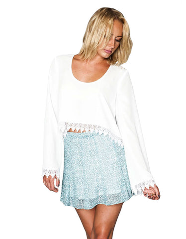 Show Me Your Mumu Chapell Top in White Crisp