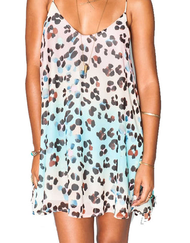 Show Me Your Mumu Circus Mini Dress in Cheetahpop