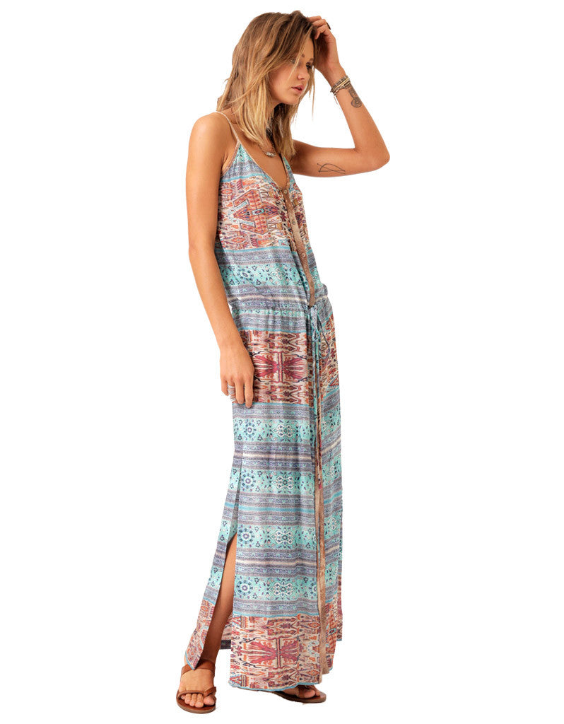 SW3 Cranleigh Aztec Printed  Maxi Dress - SWANK - Dresses