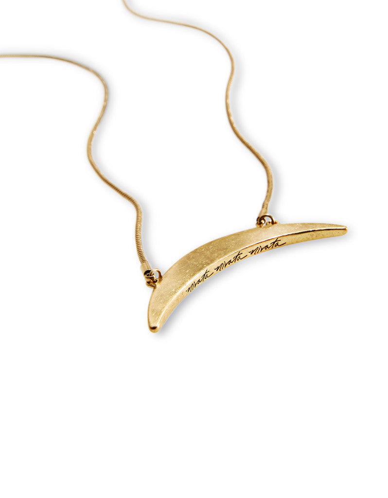 Jenny Bird Crescent Moon Necklace in Gold - SWANK - Jewelry - 2