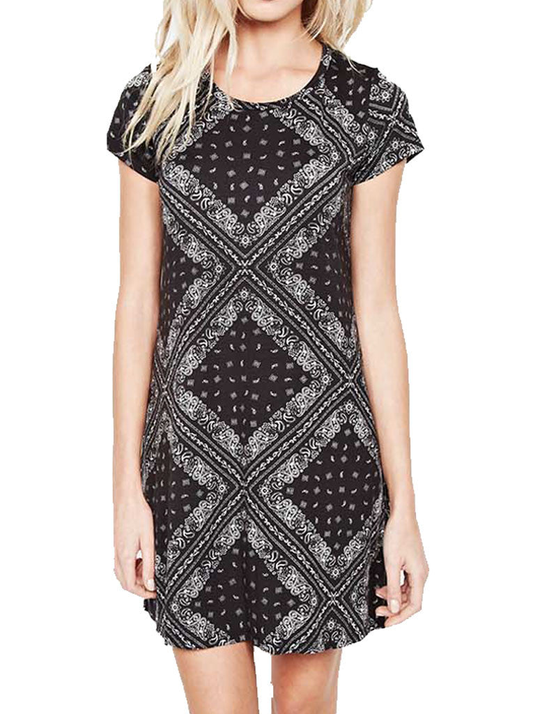 Michael Lauren Cuba Mini T-Shirt Dress in Bandana - SWANK - Dresses - 2