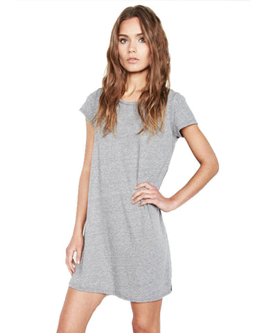 Michael Lauren Cuba Mini T-Shirt Dress in Heather Grey