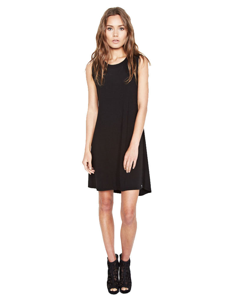 Michael Lauren Cyd Mini Dress in Black - SWANK - Dresses - 1