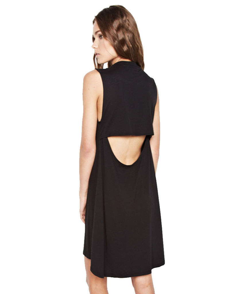 Michael Lauren Cyd Mini Dress in Black - SWANK - Dresses - 2