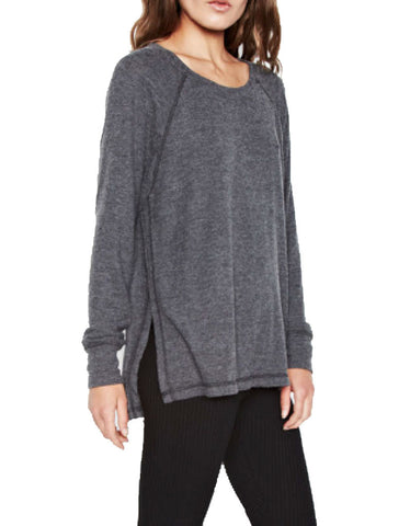 Michael Lauren Desi Pullover in Black Charcoal
