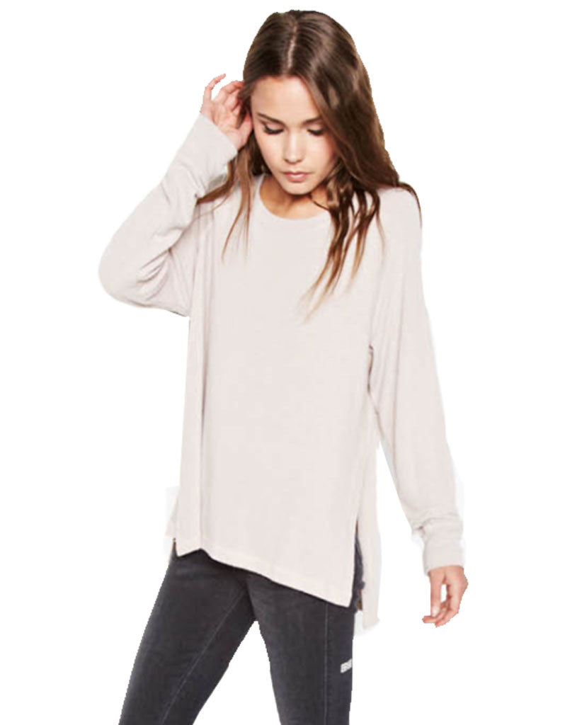 Michael Lauren Desi Pullover in Oatmeal - SWANK - Tops - 1
