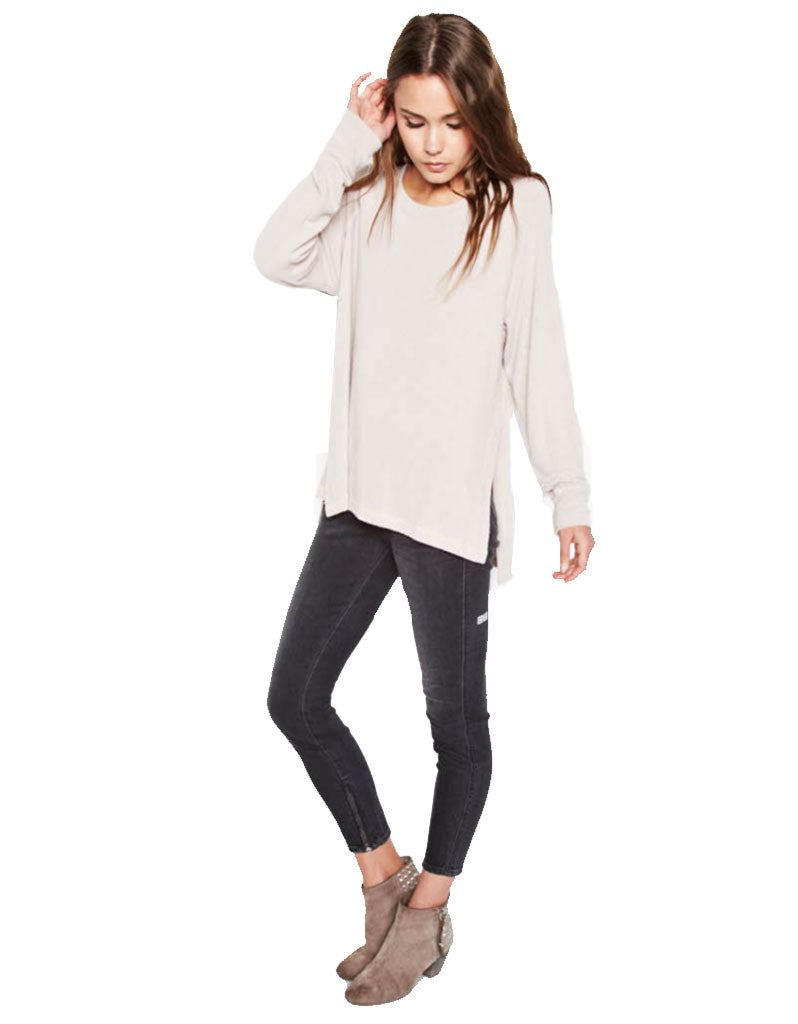 Michael Lauren Desi Pullover in Oatmeal - SWANK - Tops - 4