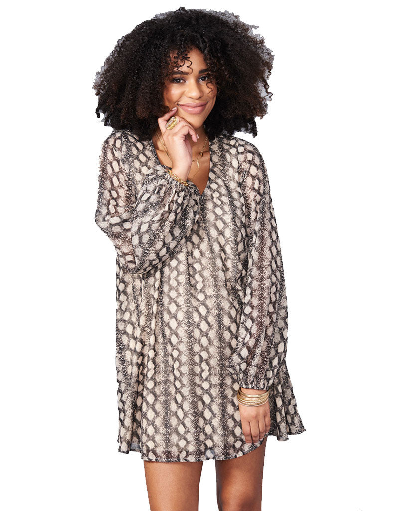 Show Me Your Mumu Donna Michelle Tunic in Black Diamond - SWANK - Tops - 4