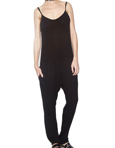 Michael Lauren Dre Tank Pant Romper in Black