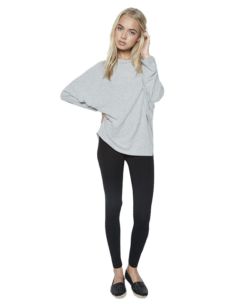 Michael Lauren Delmar L/S Dolman Pullover in Heather Grey - SWANK - Tops - 1