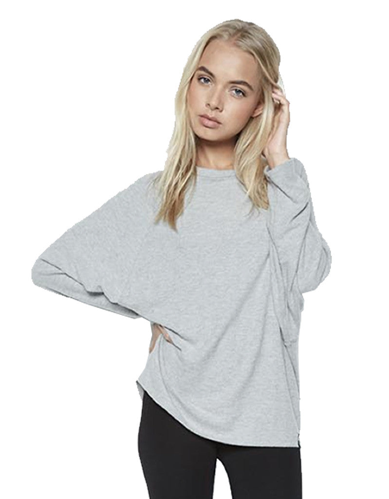 Michael Lauren Delmar L/S Dolman Pullover in Heather Grey - SWANK - Tops - 2