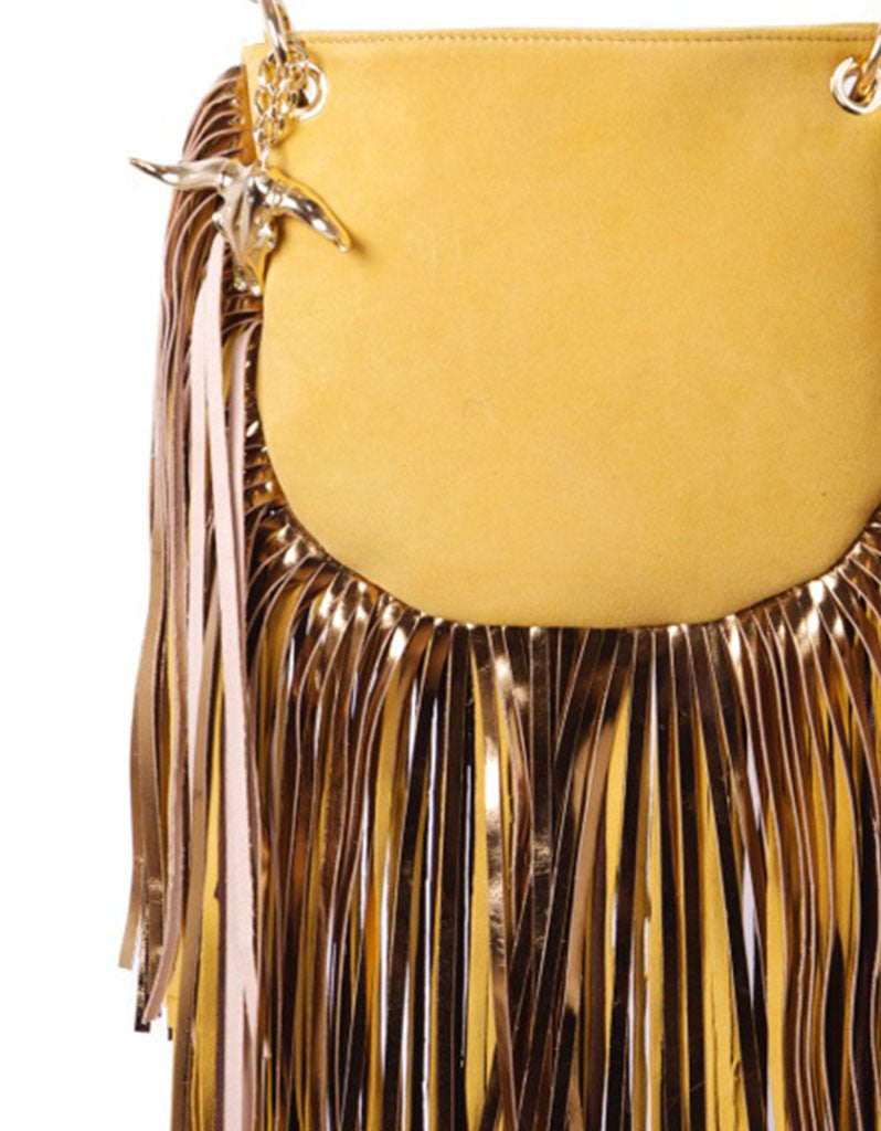 Capazonia Diva Bag in Yellow Suede - SWANK - Handbags - 2