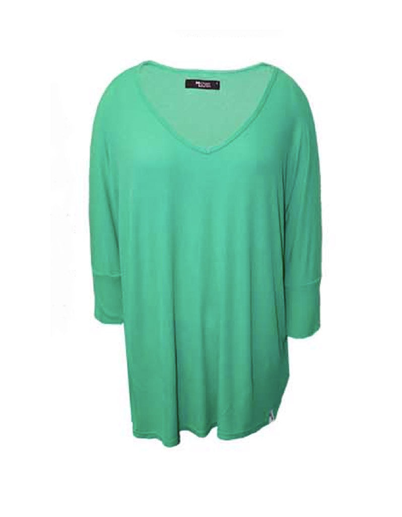 Michael Lauren Dylan 3/4 V-Neck Draped Tee *Available in Multiple Colors* - SWANK - Tops - 5