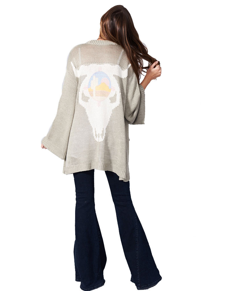 Show Me Your Mumu Easy Cardi in Ojai Bull - SWANK - Tops - 1