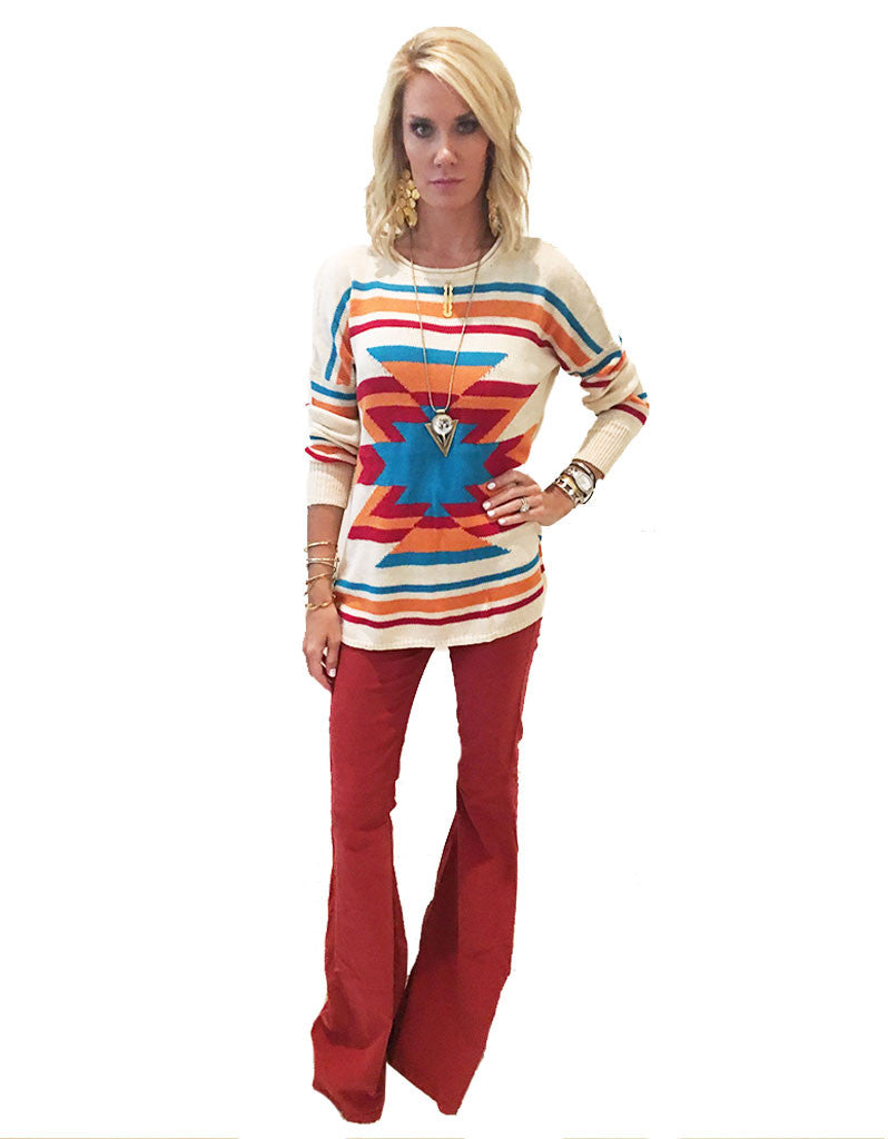 Show Me Your Mumu Cam Cam Bells in Corduroy Cayenne - SWANK - Pants - 2