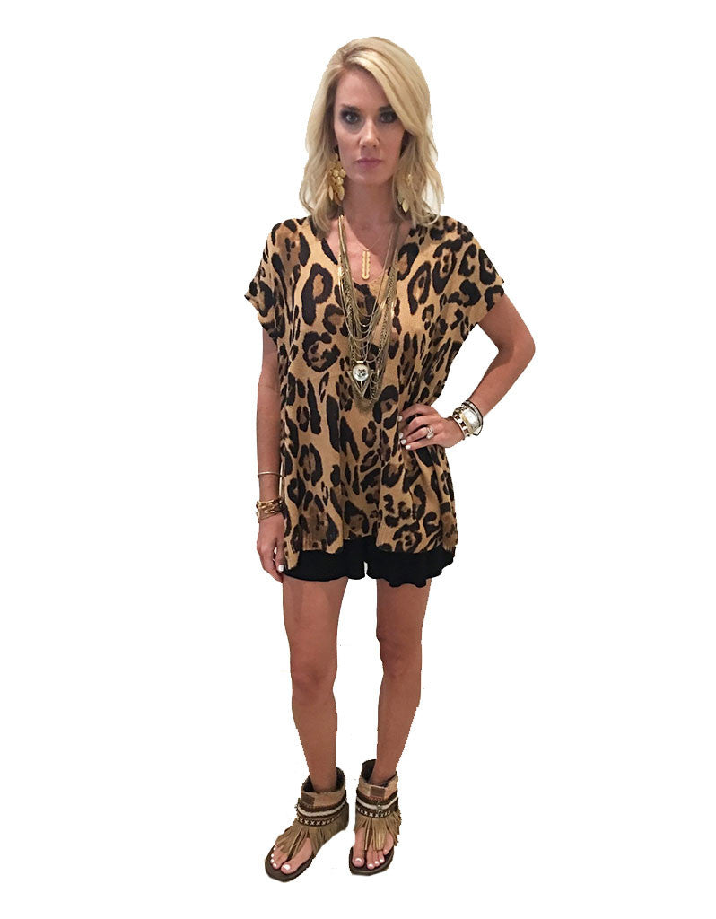 Show Me Your Mumu Carter Tunic in Leopard Knitten - SWANK - Tops - 5
