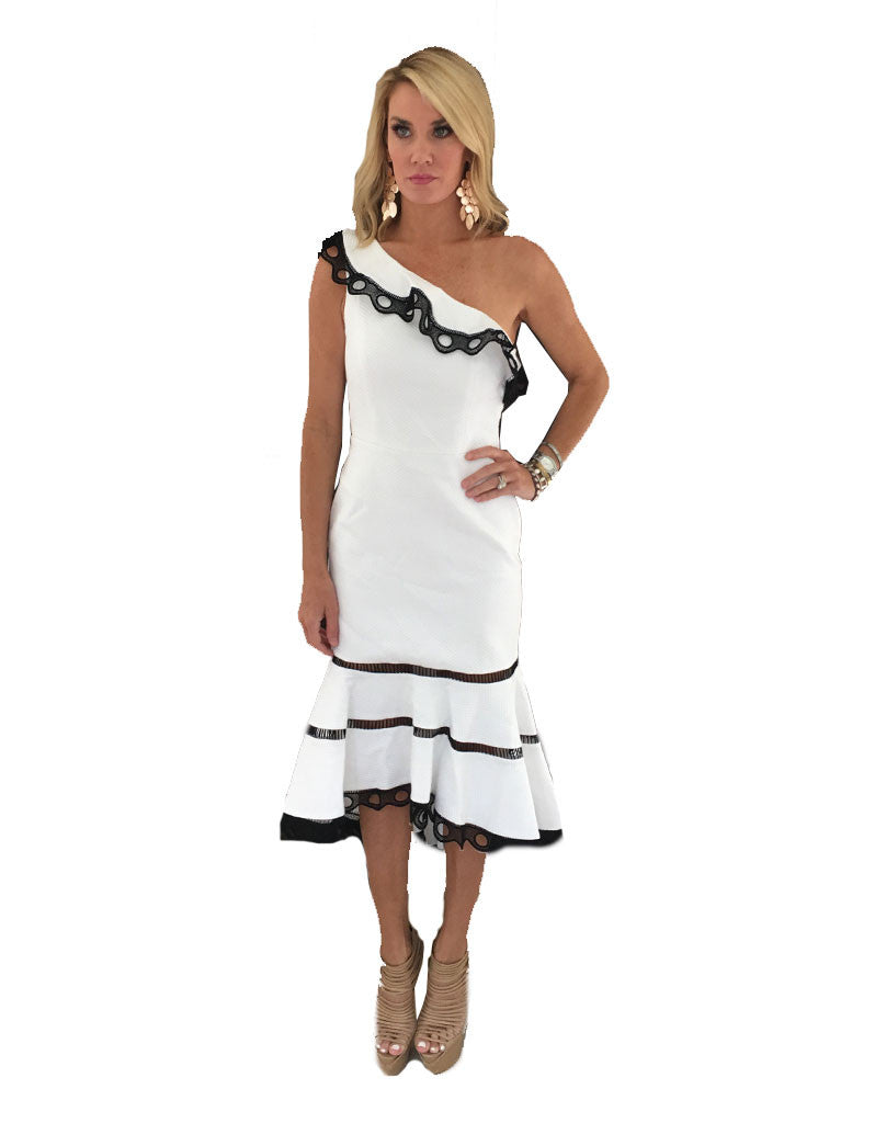 Alexis Christie Dress in White - SWANK - Dresses - 3