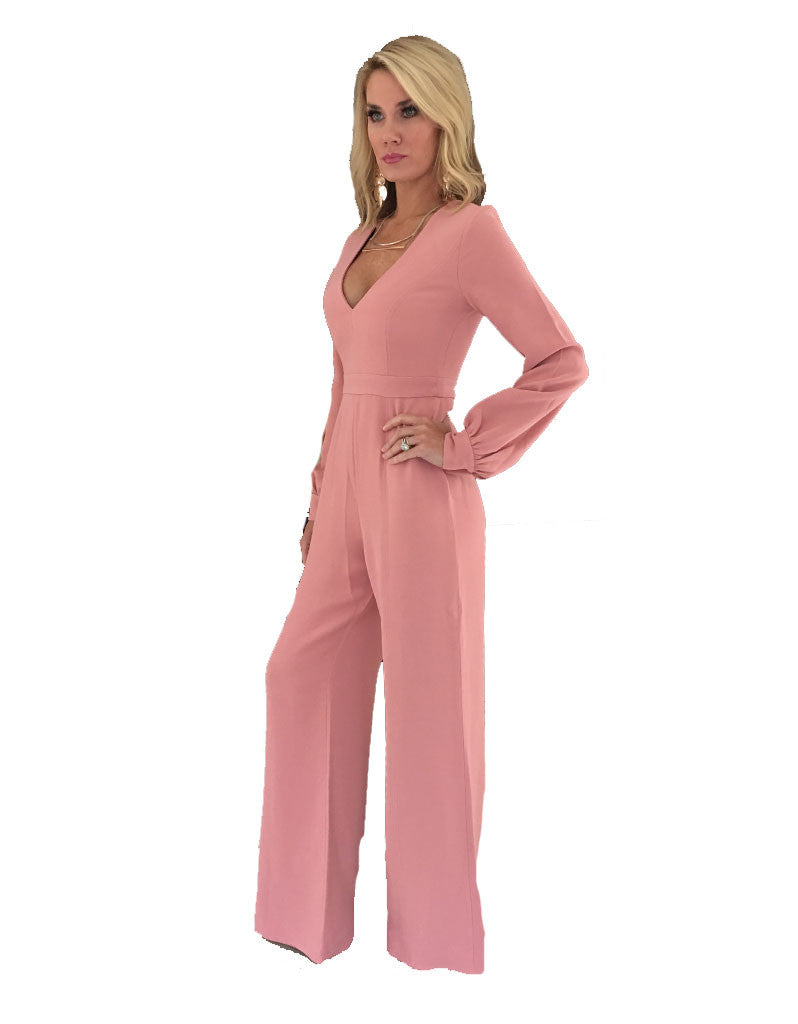 Alexis Isadore Jumpsuit in Ash Pink - SWANK - Jumpsuits - 2