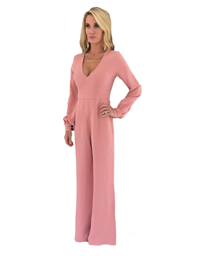 Alexis Isadore Jumpsuit in Ash Pink - SWANK - Jumpsuits - 3