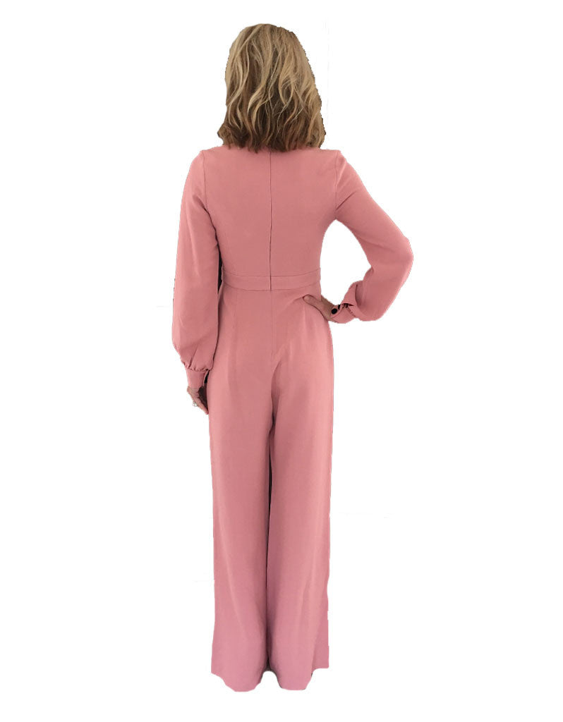 Alexis Isadore Jumpsuit in Ash Pink - SWANK - Jumpsuits - 4