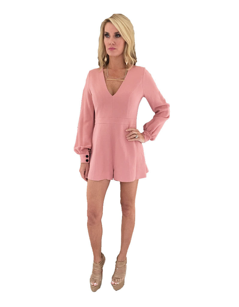 Alexis Kourtney Romper in Ash Pink - SWANK - Jumpsuits - 2