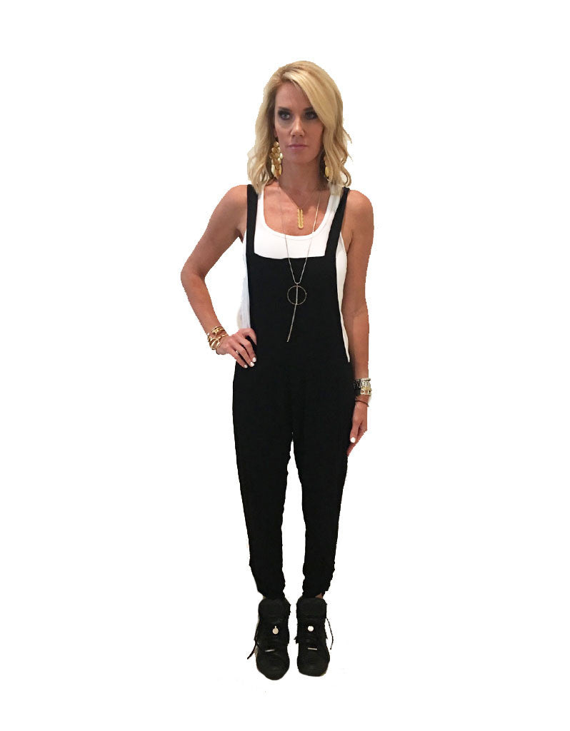 Michael Lauren Paco Overall Pants in Black - SWANK - Pants - 4